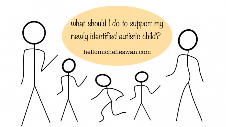 what should I do to support my newly identified autistic child? Hello Michelle Swan
